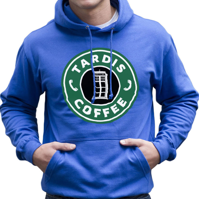 Dr Who Tardis Starbucks Coffee Men's Hooded Sweatshirt Men's Hooded Sweatshirt Cloud City 7 - 1
