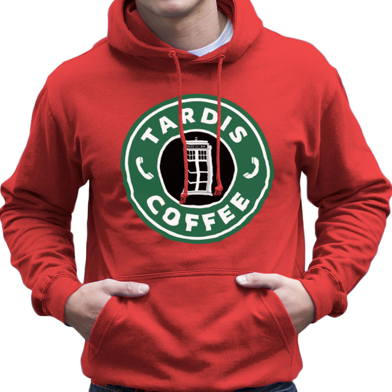 Dr Who Tardis Starbucks Coffee Men's Hooded Sweatshirt Men's Hooded Sweatshirt Cloud City 7 - 16