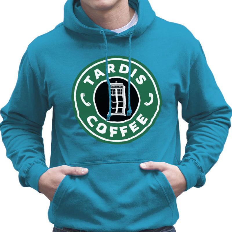 Dr Who Tardis Starbucks Coffee Men's Hooded Sweatshirt Men's Hooded Sweatshirt Cloud City 7 - 10