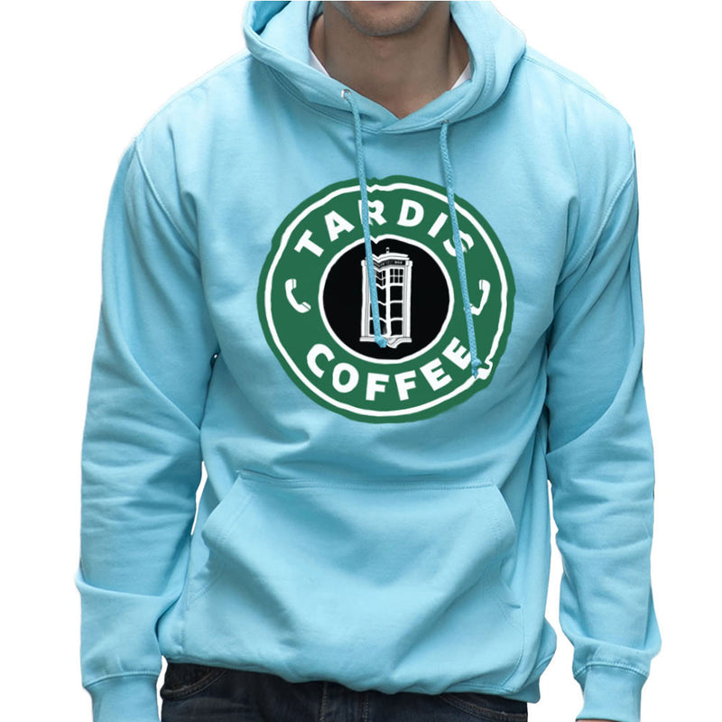 Dr Who Tardis Starbucks Coffee Men's Hooded Sweatshirt Men's Hooded Sweatshirt Cloud City 7 - 11