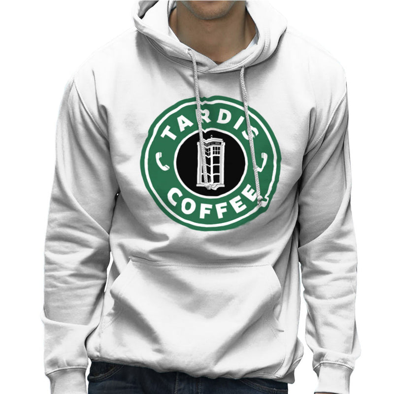 Dr Who Tardis Starbucks Coffee Men's Hooded Sweatshirt Men's Hooded Sweatshirt Cloud City 7 - 6
