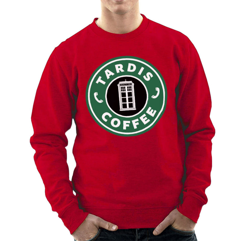 Dr Who Tardis Starbucks Coffee Men's Sweatshirt by Pheasant Omelette - Cloud City 7