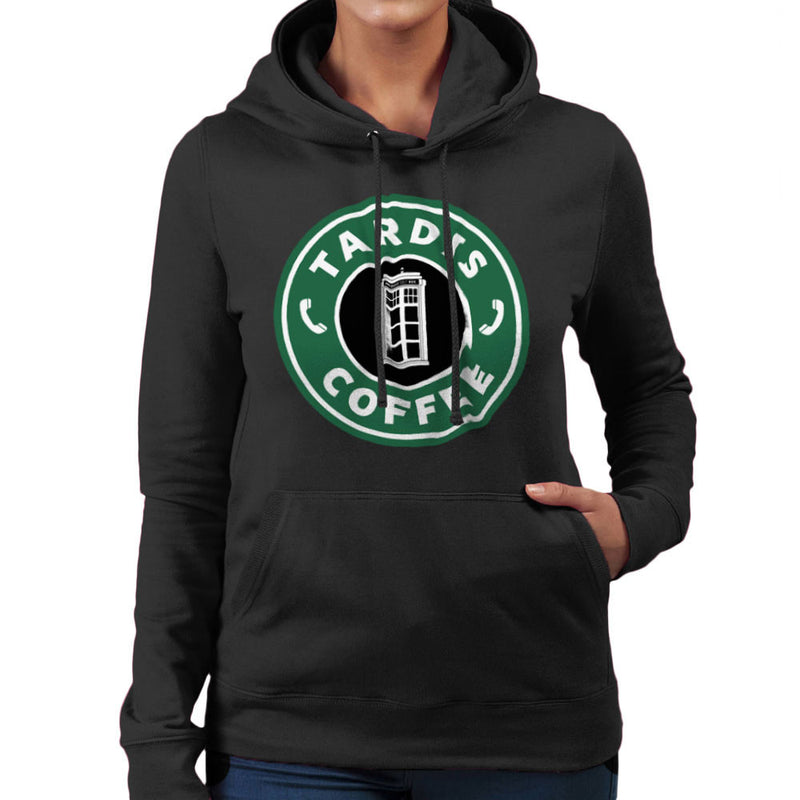 Dr Who Tardis Starbucks Coffee Women's Hooded Sweatshirt by Pheasant Omelette - Cloud City 7