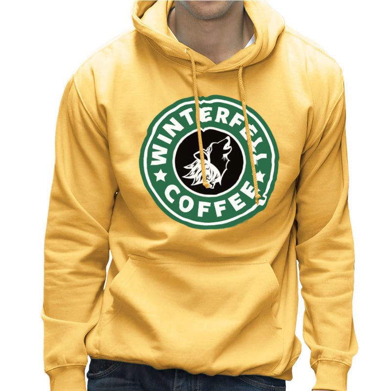 Game Of Thrones Stark Winterfell Starbucks Coffee Men's Hooded Sweatshirt by Pheasant Omelette - Cloud City 7