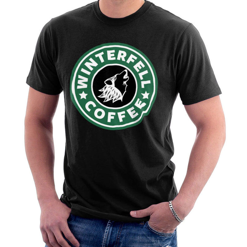Game Of Thrones Stark Winterfell Starbucks Coffee Men's T-Shirt Men's T-Shirt Cloud City 7 - 2