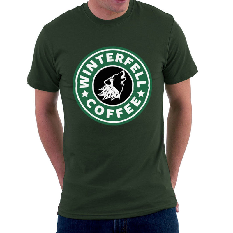 Game Of Thrones Stark Winterfell Starbucks Coffee Men's T-Shirt Men's T-Shirt Cloud City 7 - 13