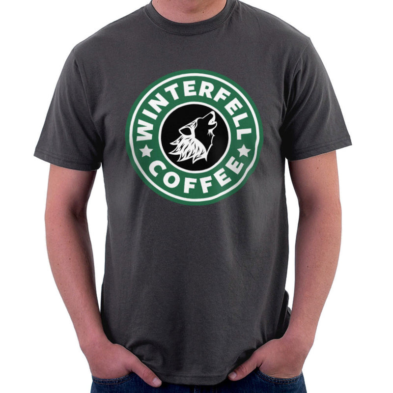 Game Of Thrones Stark Winterfell Starbucks Coffee Men's T-Shirt Men's T-Shirt Cloud City 7 - 4