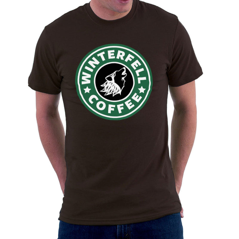 Game Of Thrones Stark Winterfell Starbucks Coffee Men's T-Shirt Men's T-Shirt Cloud City 7 - 12