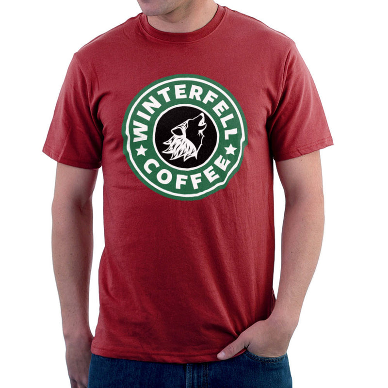 Game Of Thrones Stark Winterfell Starbucks Coffee Men's T-Shirt Men's T-Shirt Cloud City 7 - 15