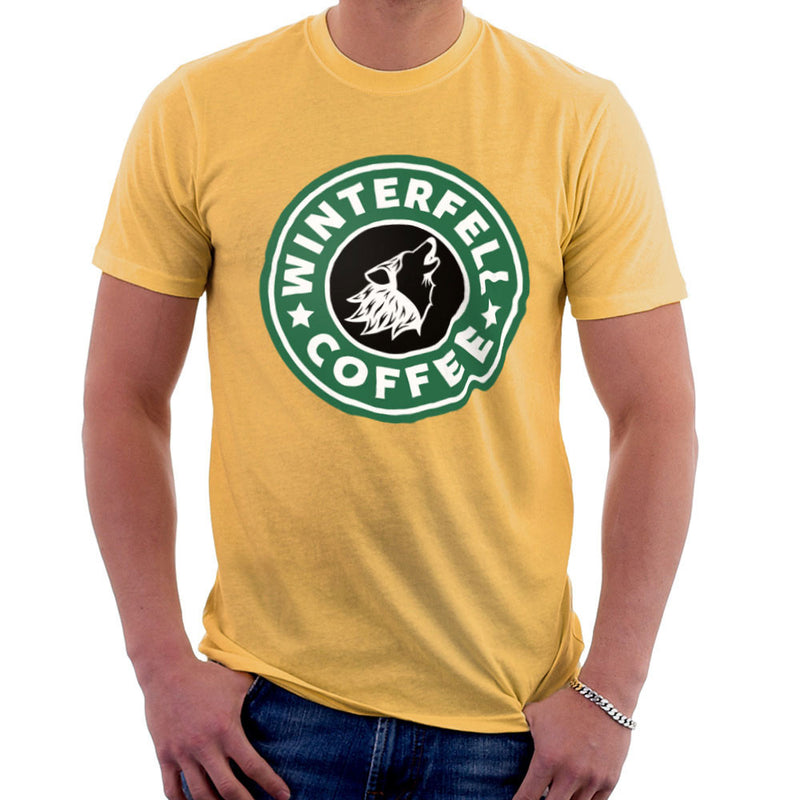 Game Of Thrones Stark Winterfell Starbucks Coffee Men's T-Shirt Men's T-Shirt Cloud City 7 - 18