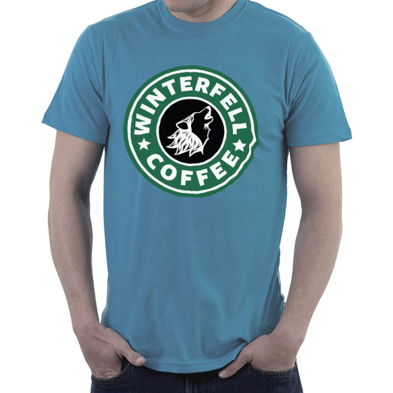 Game Of Thrones Stark Winterfell Starbucks Coffee Men's T-Shirt Men's T-Shirt Cloud City 7 - 9