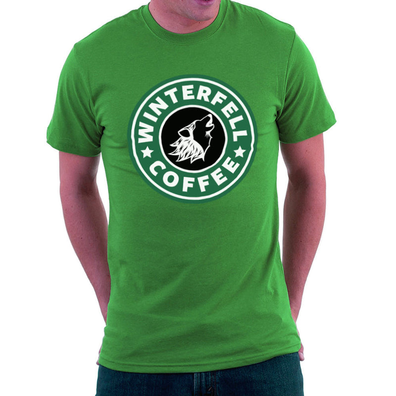 Game Of Thrones Stark Winterfell Starbucks Coffee Men's T-Shirt Men's T-Shirt Cloud City 7 - 14