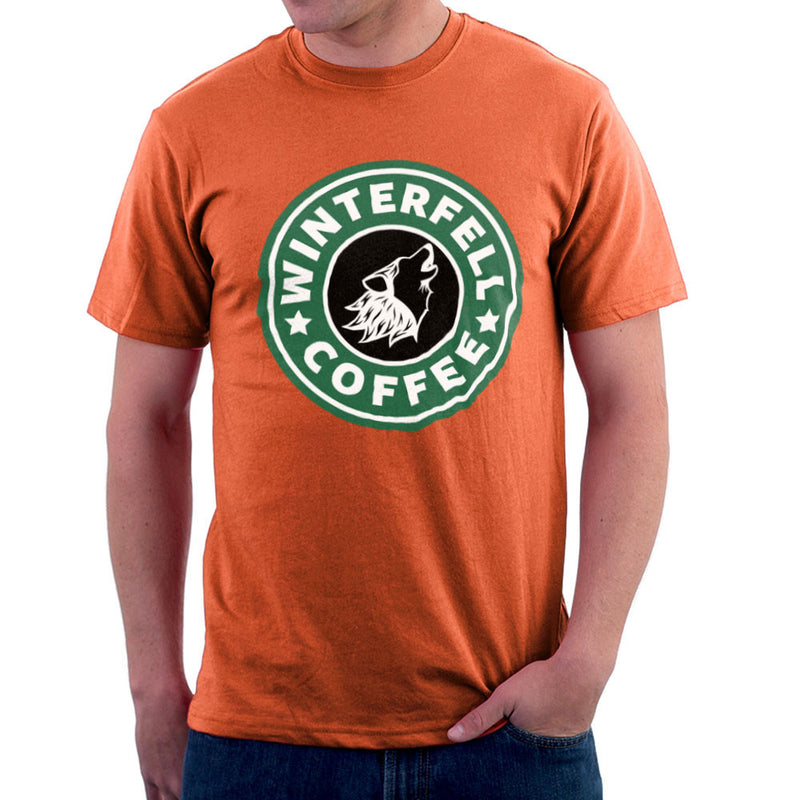 Game Of Thrones Stark Winterfell Starbucks Coffee Men's T-Shirt Men's T-Shirt Cloud City 7 - 17