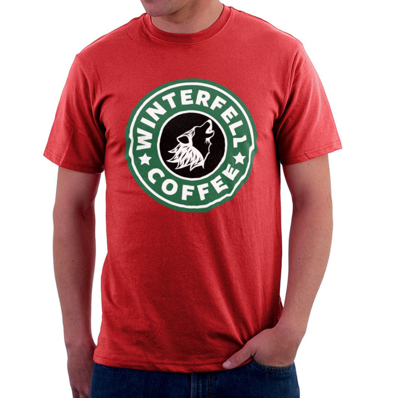 Game Of Thrones Stark Winterfell Starbucks Coffee Men's T-Shirt Men's T-Shirt Cloud City 7 - 16