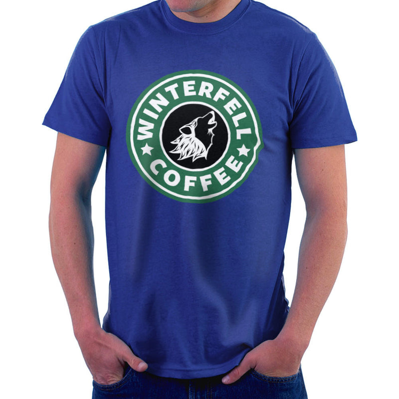 Game Of Thrones Stark Winterfell Starbucks Coffee Men's T-Shirt Men's T-Shirt Cloud City 7 - 8