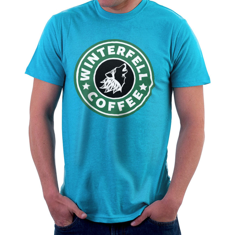 Game Of Thrones Stark Winterfell Starbucks Coffee Men's T-Shirt Men's T-Shirt Cloud City 7 - 10