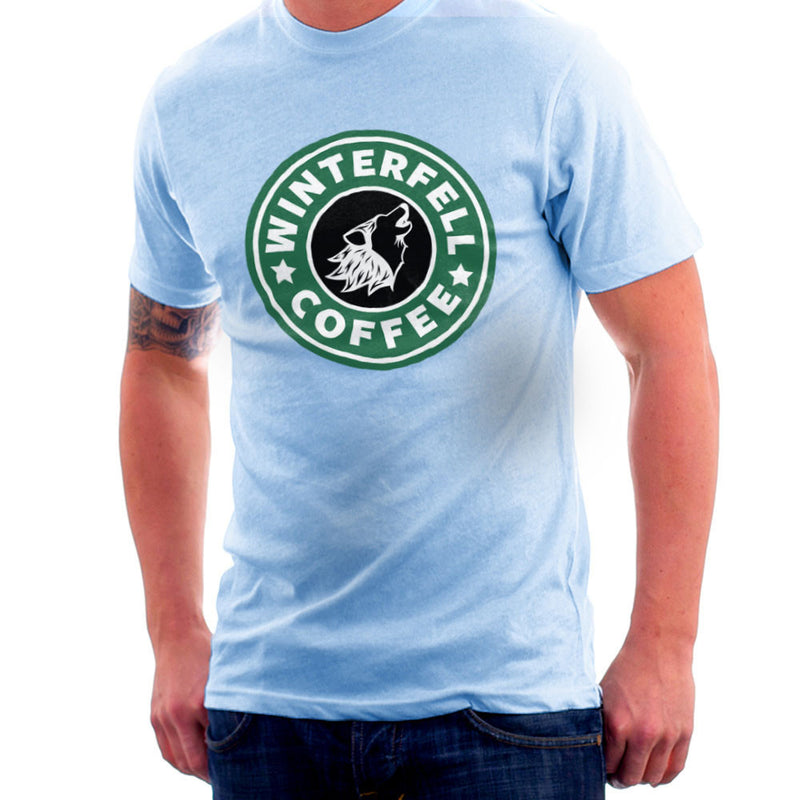 Game Of Thrones Stark Winterfell Starbucks Coffee Men's T-Shirt Men's T-Shirt Cloud City 7 - 11
