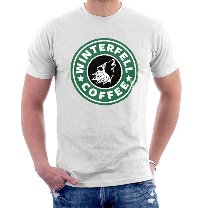 Game Of Thrones Stark Winterfell Starbucks Coffee Men's T-Shirt Men's T-Shirt Cloud City 7 - 6