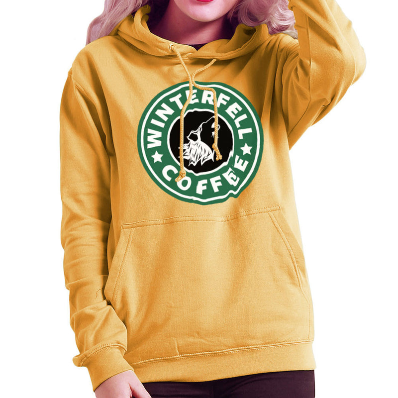 Game Of Thrones Stark Winterfell Starbucks Coffee Women's Hooded Sweatshirt by Pheasant Omelette - Cloud City 7