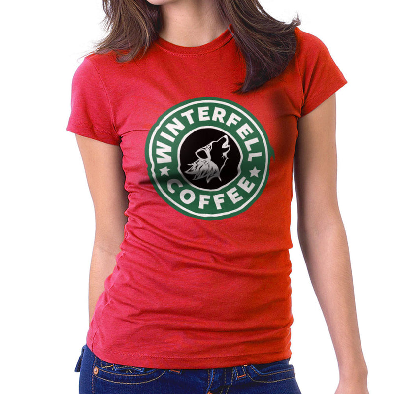 Game Of Thrones Stark Winterfell Starbucks Coffee Women's T-Shirt by Pheasant Omelette - Cloud City 7