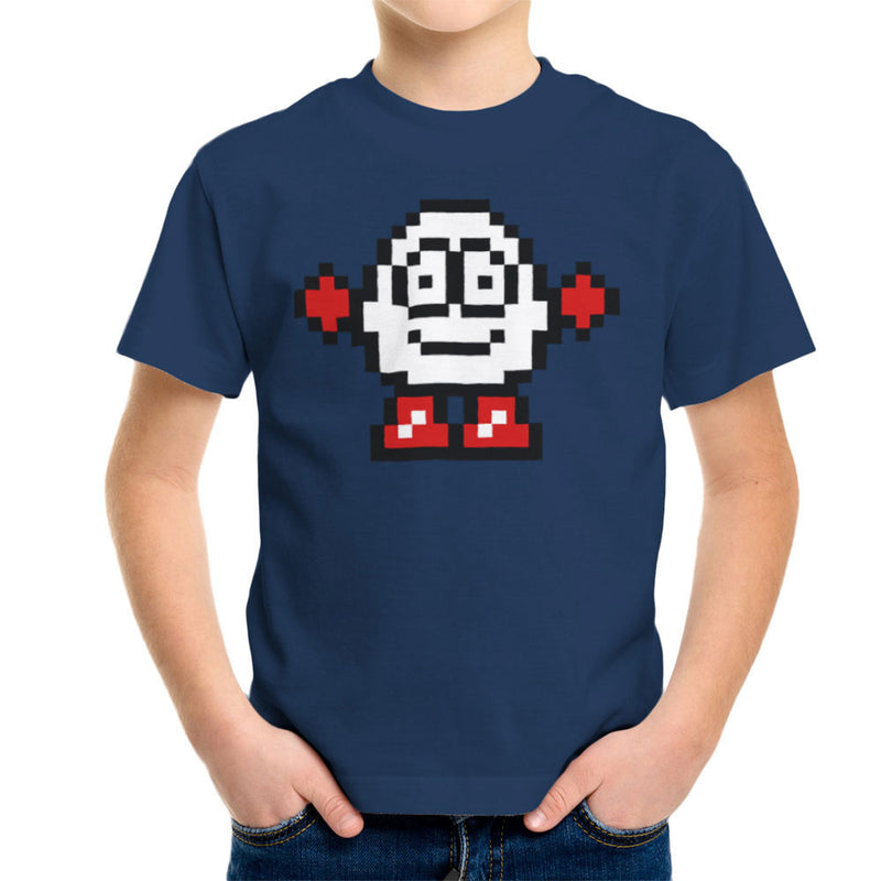 Dizzy Egg Pixel Kid's T-Shirt by DeMilburn - Cloud City 7