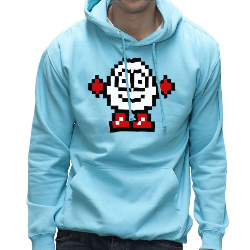 Dizzy Egg Pixel Men's Hooded Sweatshirt by DeMilburn - Cloud City 7