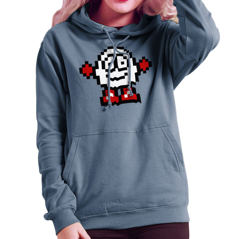 Dizzy Egg Pixel Women's Hooded Sweatshirt by DeMilburn - Cloud City 7