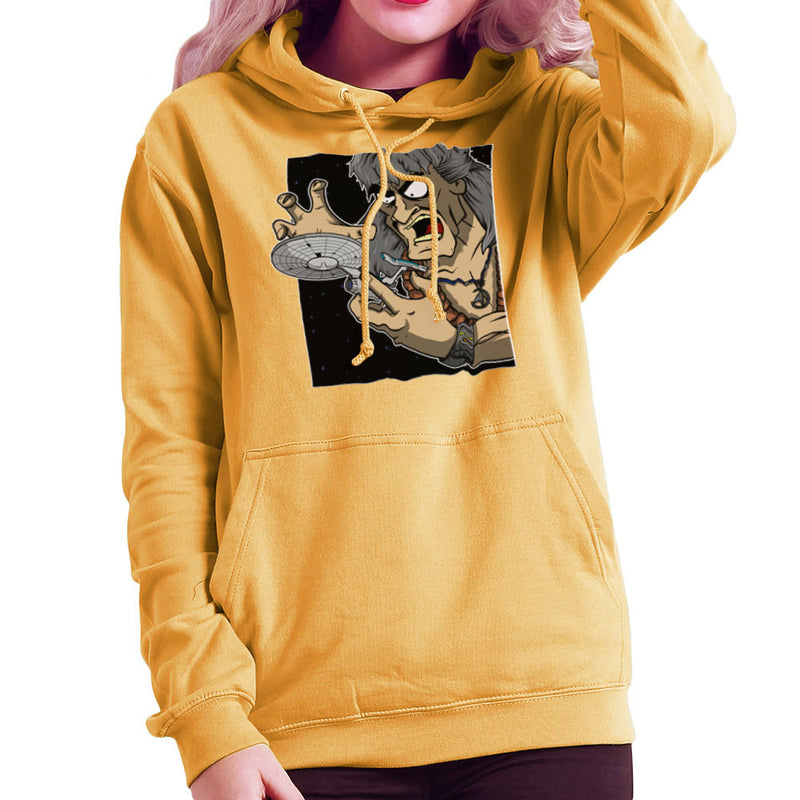 Star Trek Enterprise Khan Noonien Singh Women's Hooded Sweatshirt Women's Hooded Sweatshirt Cloud City 7 - 18