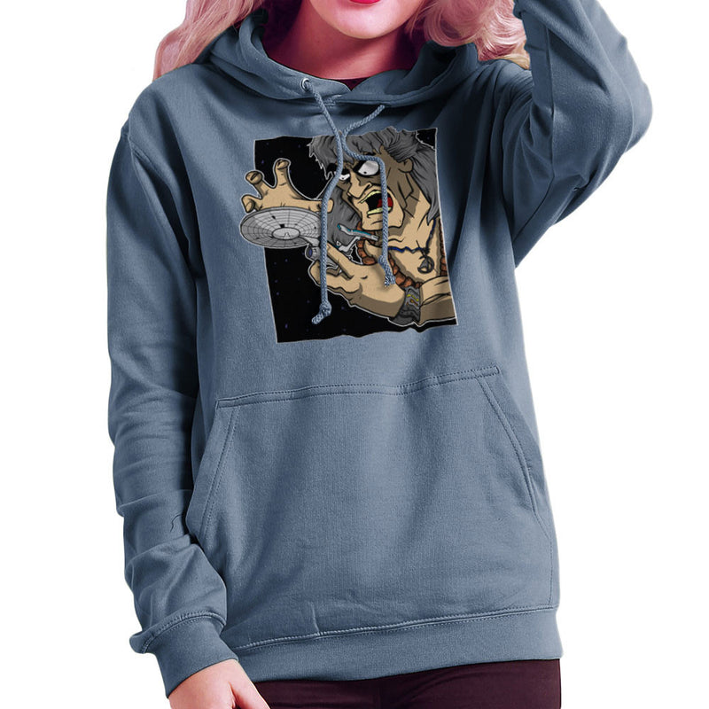 Star Trek Enterprise Khan Noonien Singh Women's Hooded Sweatshirt Women's Hooded Sweatshirt Cloud City 7 - 9