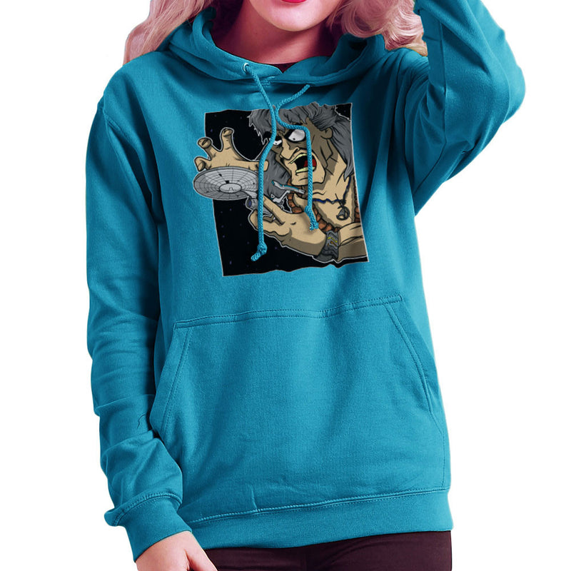 Star Trek Enterprise Khan Noonien Singh Women's Hooded Sweatshirt Women's Hooded Sweatshirt Cloud City 7 - 10