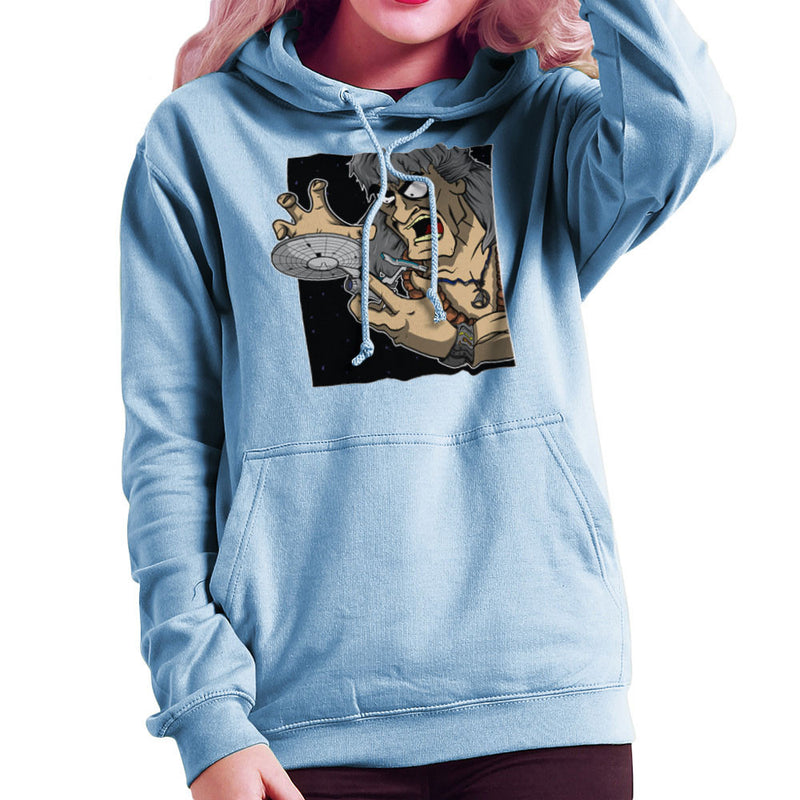 Star Trek Enterprise Khan Noonien Singh Women's Hooded Sweatshirt Women's Hooded Sweatshirt Cloud City 7 - 11