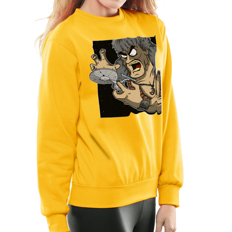Star Trek Enterprise Khan Noonien Singh Women's Sweatshirt by DeMilburn - Cloud City 7