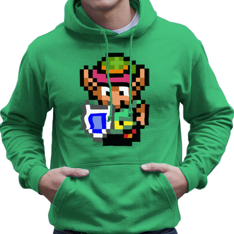 Legend Of Zelda Link Pixel Character Men's Hooded Sweatshirt by DeMilburn - Cloud City 7