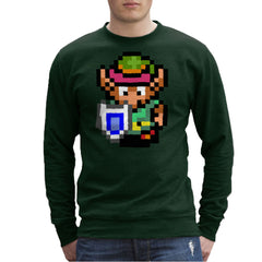Legend Of Zelda Link Pixel Character Men's Sweatshirt Men's Sweatshirt Cloud City 7 - 13