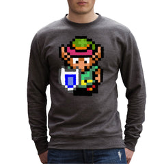 Legend Of Zelda Link Pixel Character Men's Sweatshirt Men's Sweatshirt Cloud City 7 - 4