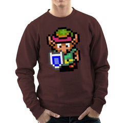 Legend Of Zelda Link Pixel Character Men's Sweatshirt Men's Sweatshirt Cloud City 7 - 12