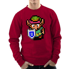 Legend Of Zelda Link Pixel Character Men's Sweatshirt Men's Sweatshirt Cloud City 7 - 15