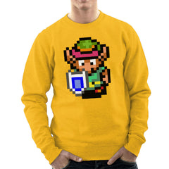 Legend Of Zelda Link Pixel Character Men's Sweatshirt Men's Sweatshirt Cloud City 7 - 18