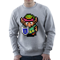 Legend Of Zelda Link Pixel Character Men's Sweatshirt Men's Sweatshirt Cloud City 7 - 5