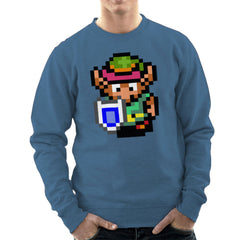 Legend Of Zelda Link Pixel Character Men's Sweatshirt Men's Sweatshirt Cloud City 7 - 9