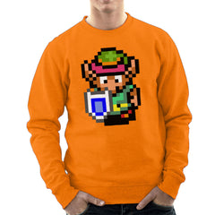 Legend Of Zelda Link Pixel Character Men's Sweatshirt Men's Sweatshirt Cloud City 7 - 17