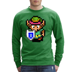 Legend Of Zelda Link Pixel Character Men's Sweatshirt Men's Sweatshirt Cloud City 7 - 1