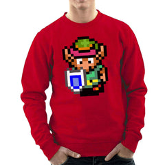 Legend Of Zelda Link Pixel Character Men's Sweatshirt Men's Sweatshirt Cloud City 7 - 16