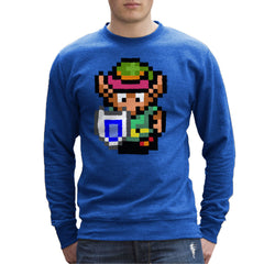 Legend Of Zelda Link Pixel Character Men's Sweatshirt Men's Sweatshirt Cloud City 7 - 8