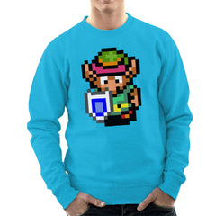 Legend Of Zelda Link Pixel Character Men's Sweatshirt Men's Sweatshirt Cloud City 7 - 10