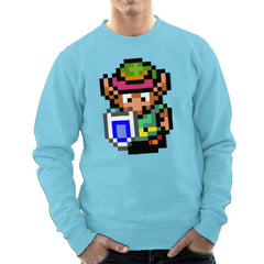 Legend Of Zelda Link Pixel Character Men's Sweatshirt Men's Sweatshirt Cloud City 7 - 11