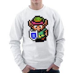 Legend Of Zelda Link Pixel Character Men's Sweatshirt Men's Sweatshirt Cloud City 7 - 6