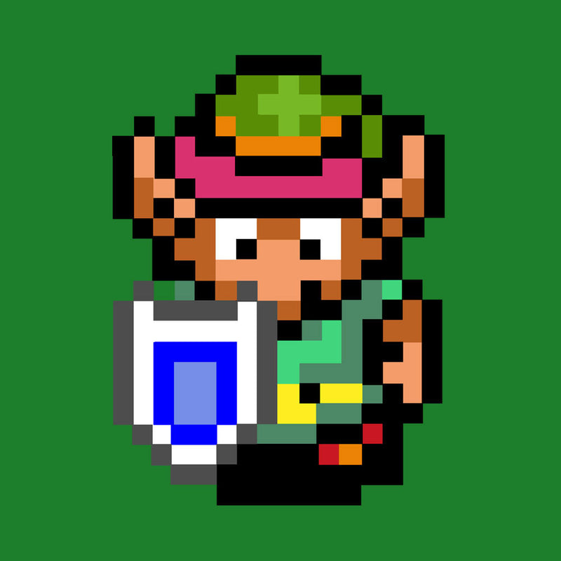 Legend Of Zelda Link Pixel Character by DeMilburn - Cloud City 7