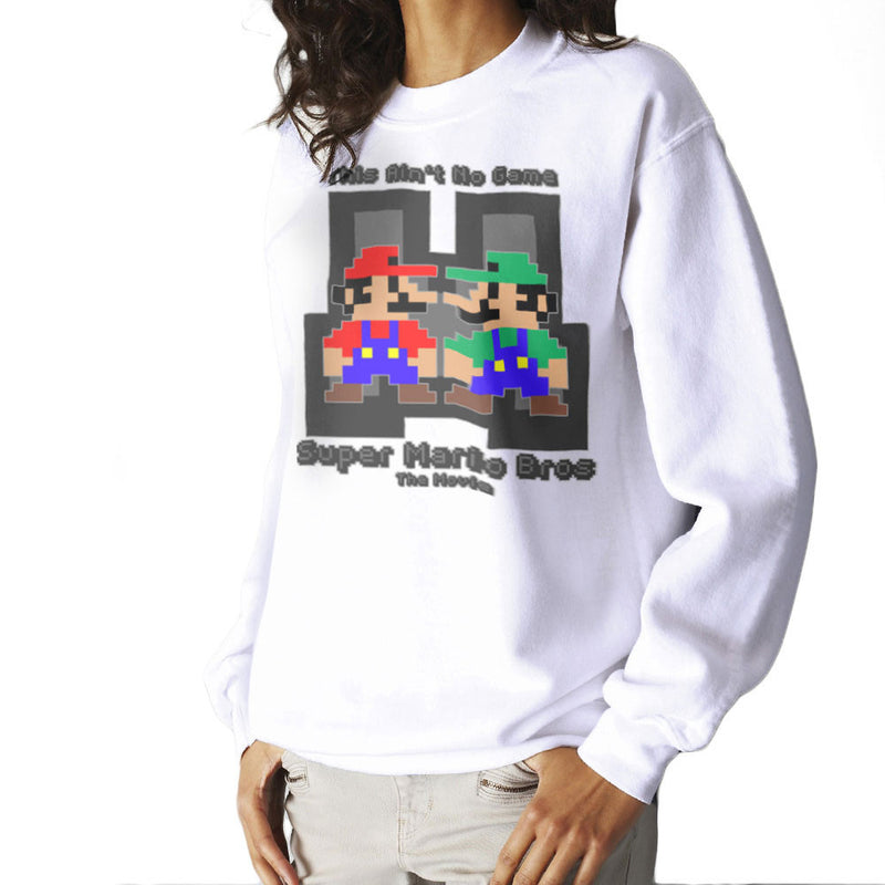 Super Mario Bros Mario Luigi The Movie Women's Sweatshirt by DeMilburn - Cloud City 7