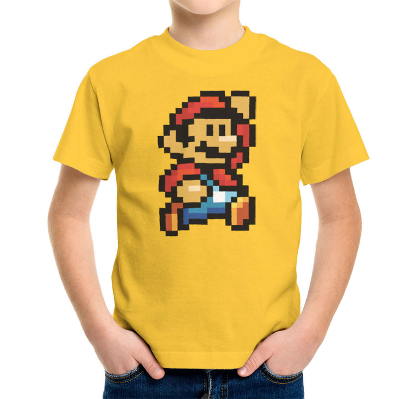 Super Mario Pixel Kid's T-Shirt by DeMilburn - Cloud City 7